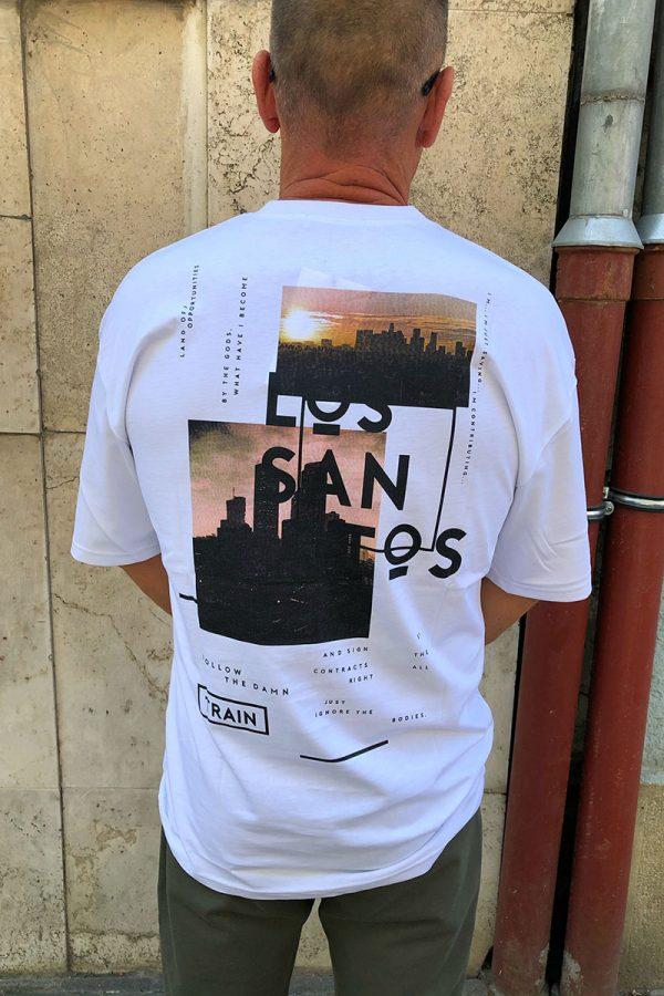 SAN'TOS hosszitott férfi,-pamut T-SHIRT/PÓLÓ
