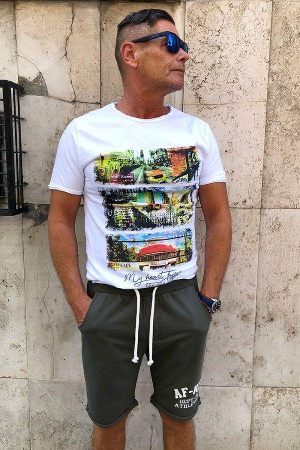 WALL STREET olasz férfi T-SHIRT/PÓLÓ